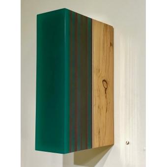 #3 Green layered limewood